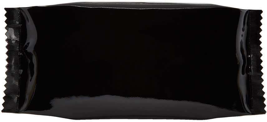 Image of Mm6 Maison Margiela Black Candy Wrapper Clutch