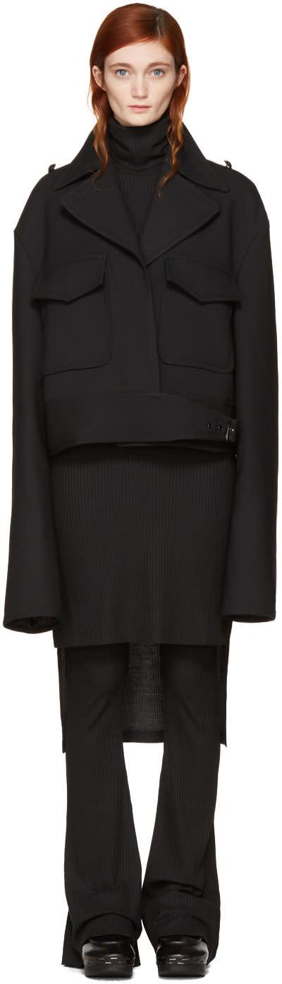 Mm6 Maison Margiela Black Oversized Jacket