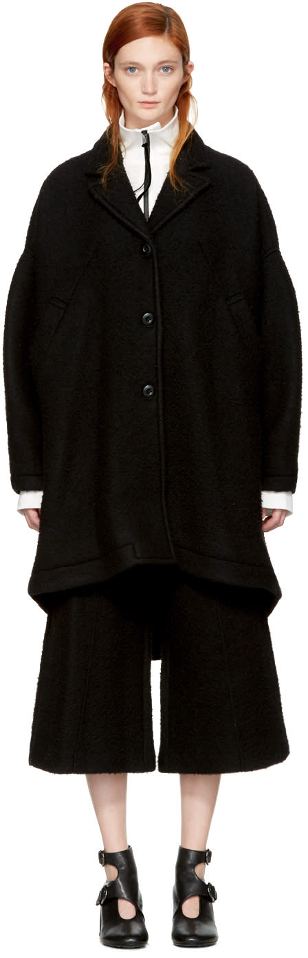 Image of Mm6 Maison Margiela Black Casentino Coat
