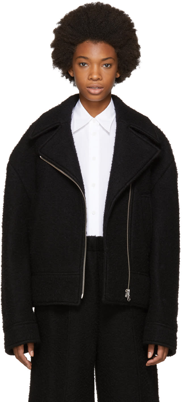 Image of Mm6 Maison Margiela Black Casentino Jacket