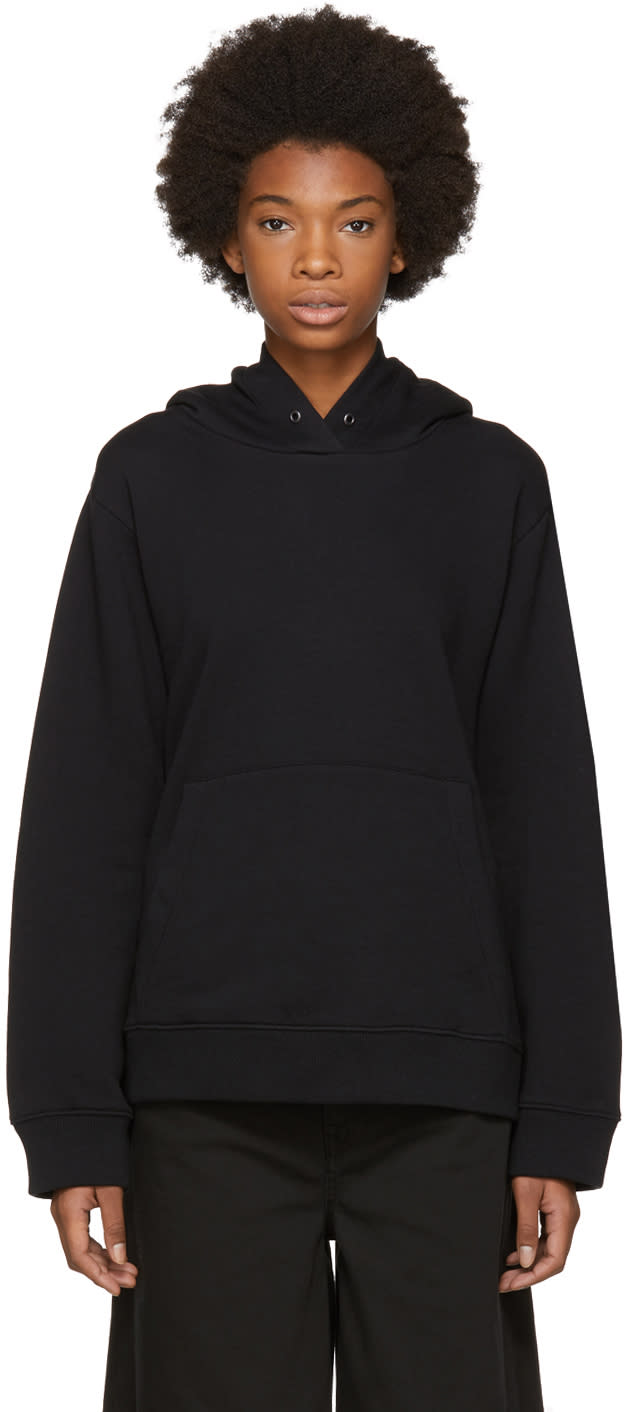 Image of Mm6 Maison Margiela Black Basic Hoodie