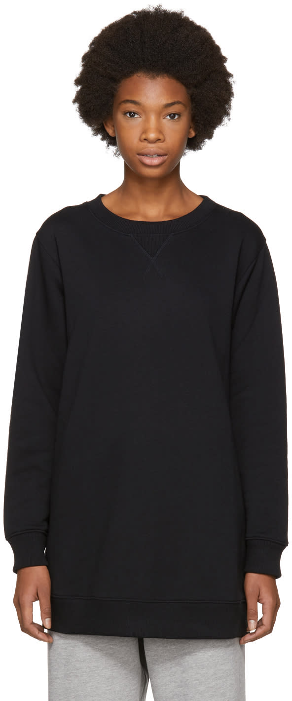 Image of Mm6 Maison Margiela Black Basic Sweatshirt