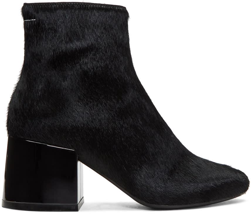 Mm6 Maison Margiela Black Pony Boots