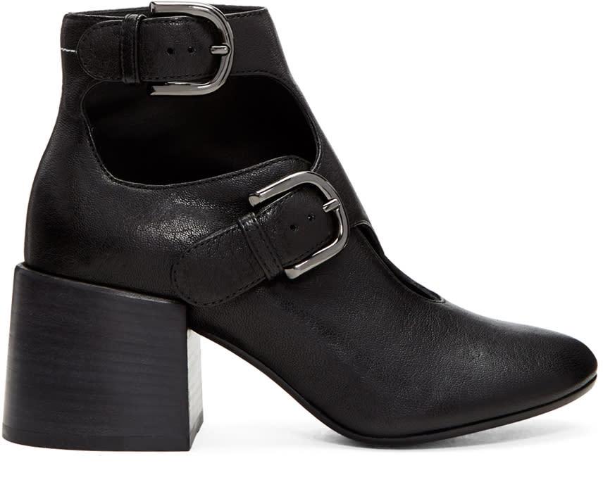 Mm6 Maison Margiela Black Cut-out Boots
