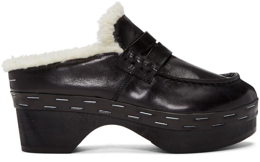 Mm6 Maison Margiela Black Clog Loafers