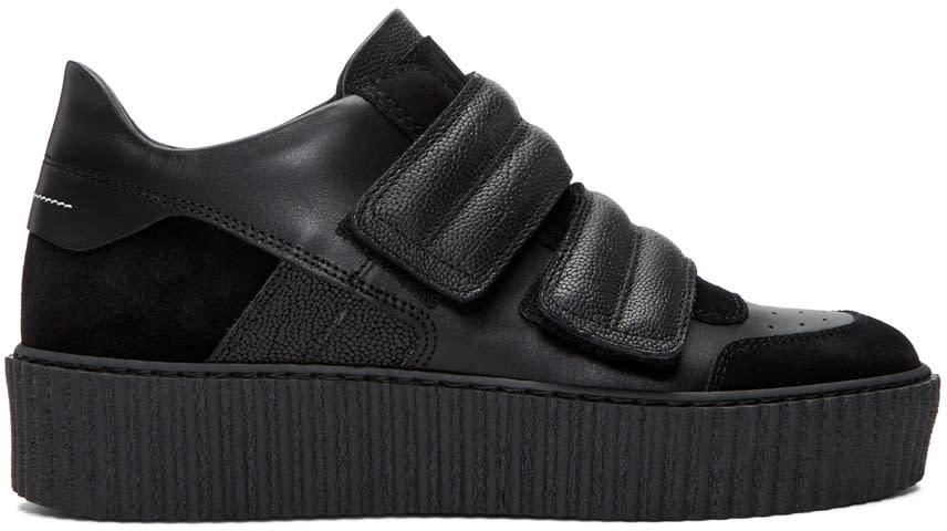 Mm6 Maison Margiela Black Platform Sneakers