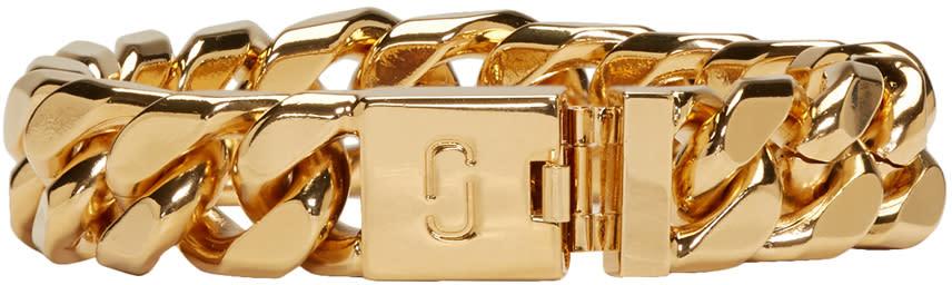 marc jacobs female marc jacobs gold double j chain bracelet