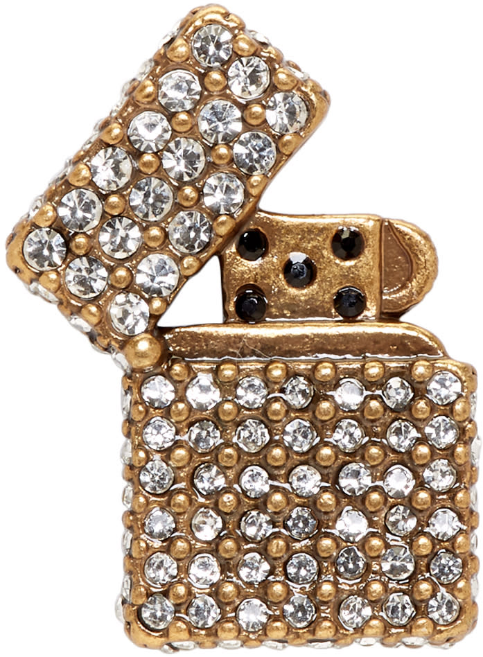 marc jacobs female marc jacobs gold strass lighter pin