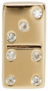 marc jacobs female marc jacobs gold domino something special earring
