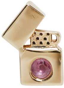 marc jacobs female marc jacobs gold lighter something special earring
