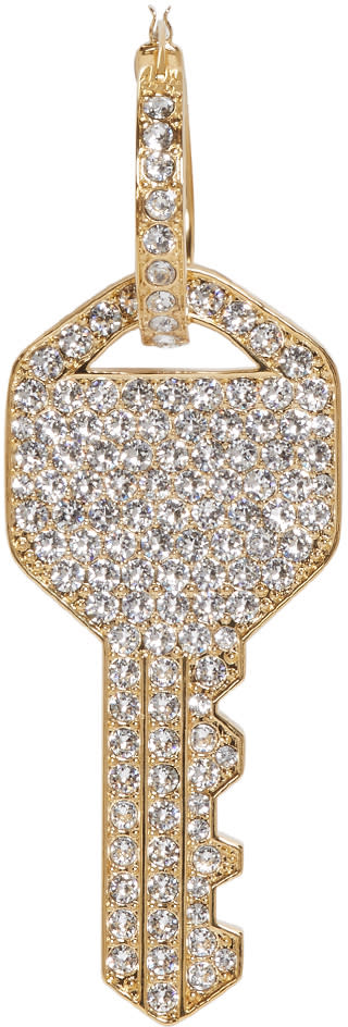 marc jacobs female marc jacobs gold pave key earring