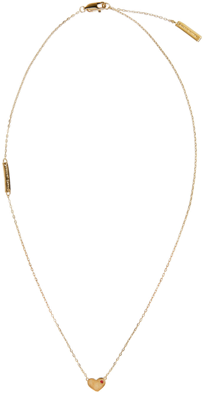 marc jacobs female marc jacobs gold heart something special necklace