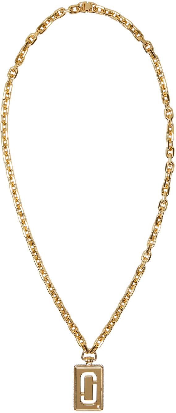 marc jacobs female marc jacobs gold double j pendant necklace
