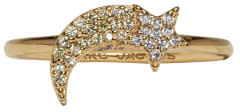 marc jacobs female marc jacobs gold shooting star something special ring
