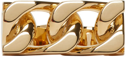 marc jacobs female marc jacobs gold doublelink ring