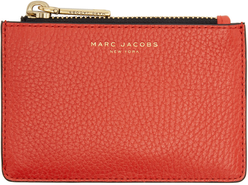 marc jacobs female marc jacobs red gotham zip card holder
