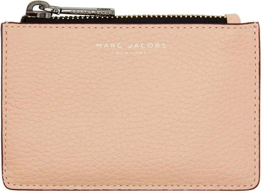 marc jacobs female marc jacobs pink gotham zip card holder