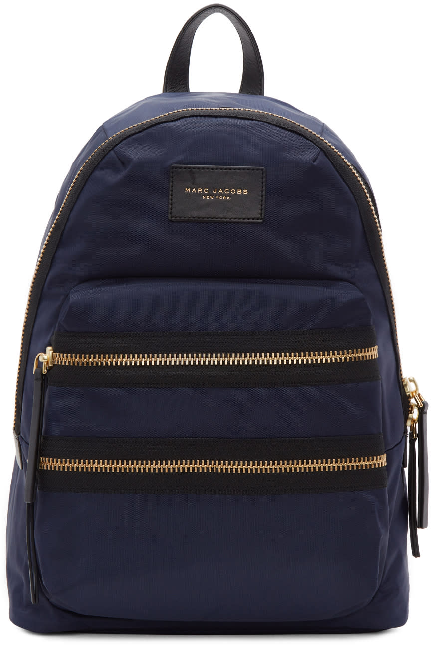 marc jacobs female marc jacobs navy biker backpack