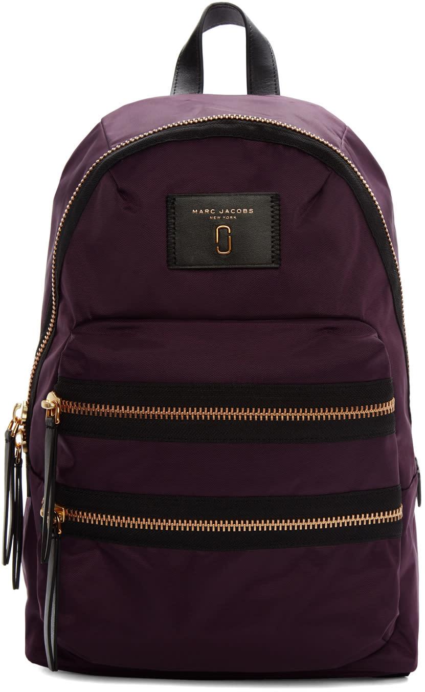 marc jacobs female marc jacobs purple nylon biker backpack