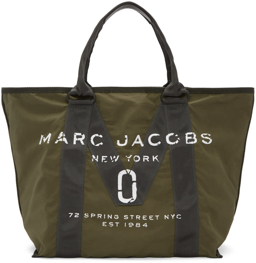 marc jacobs female marc jacobs green new logo tote