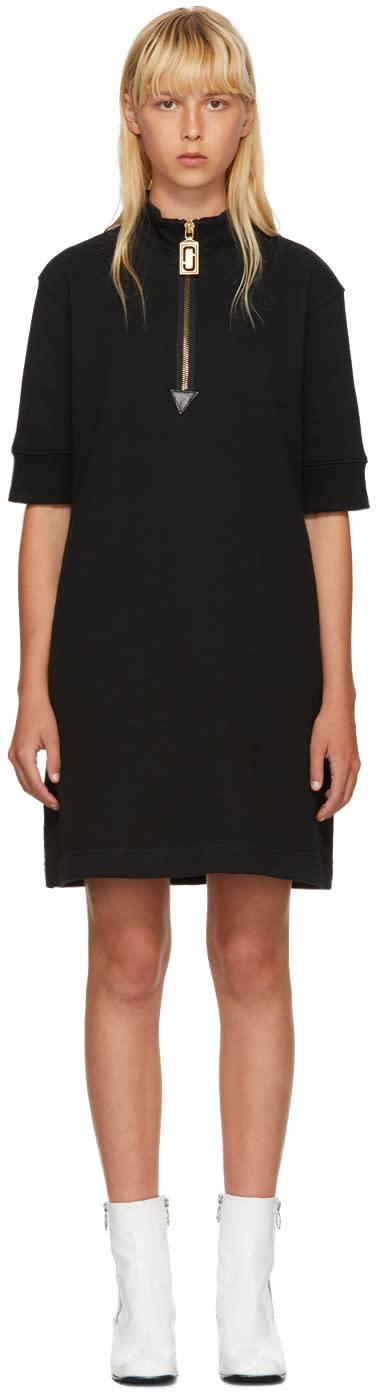 Marc Jacobs Black Zip Sweatshirt Dress