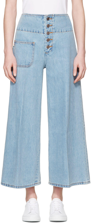 marc jacobs female marc jacobs indigo wideleg jeans