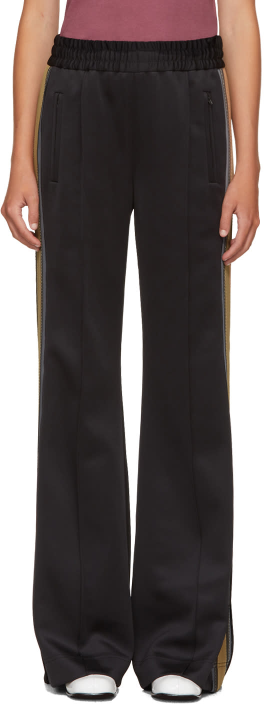 marc jacobs female marc jacobs black striped track pants