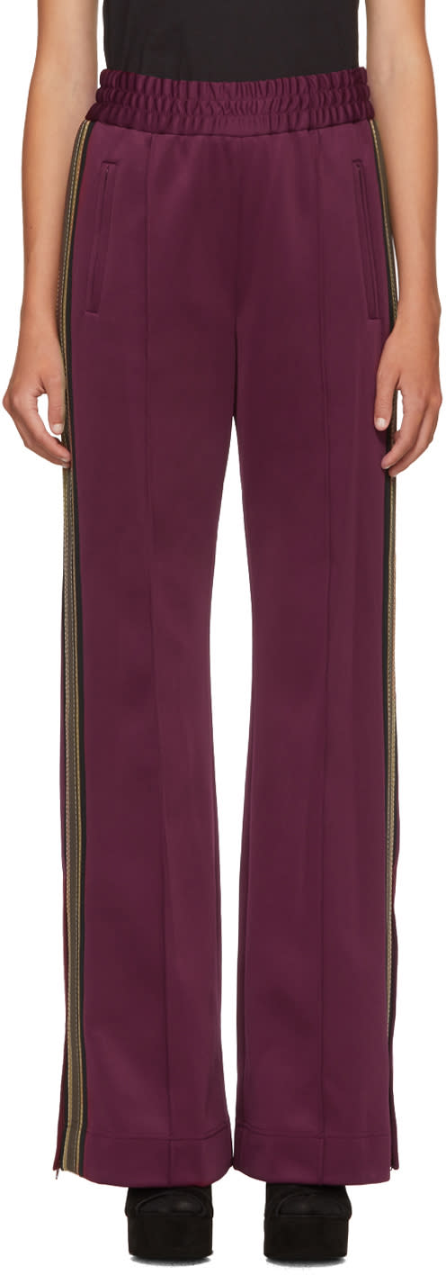marc jacobs female marc jacobs burgundy striped track pants