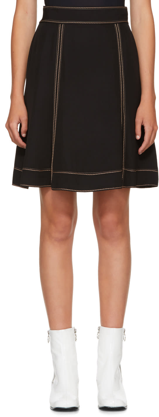 Image of Marc Jacobs Black Crepe Miniskirt