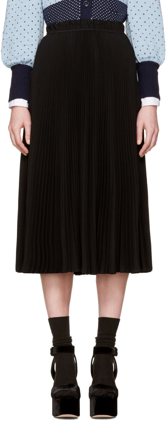 Marc Jacobs Black Pleated Skirt