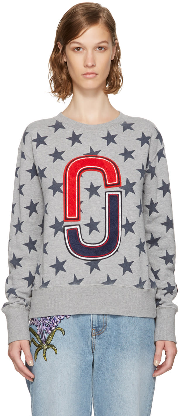 marc jacobs female marc jacobs grey 90s star sweatshirt