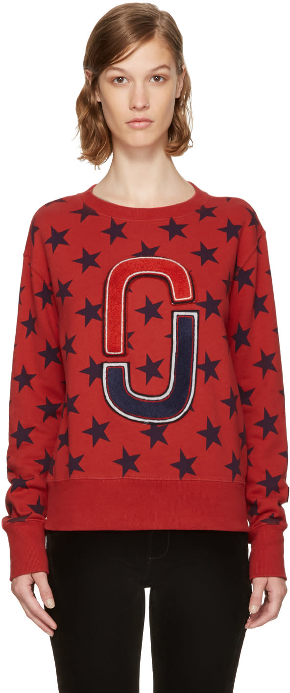 marc jacobs female marc jacobs red 90s star sweatshirt
