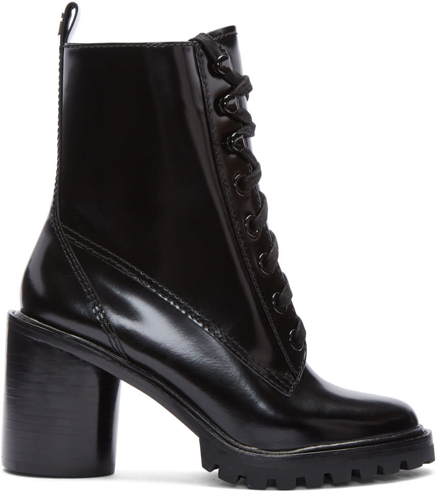 Marc Jacobs Black Ryder Lace-up Boots