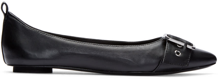 Marc Jacobs Black Reed Buckle Flats