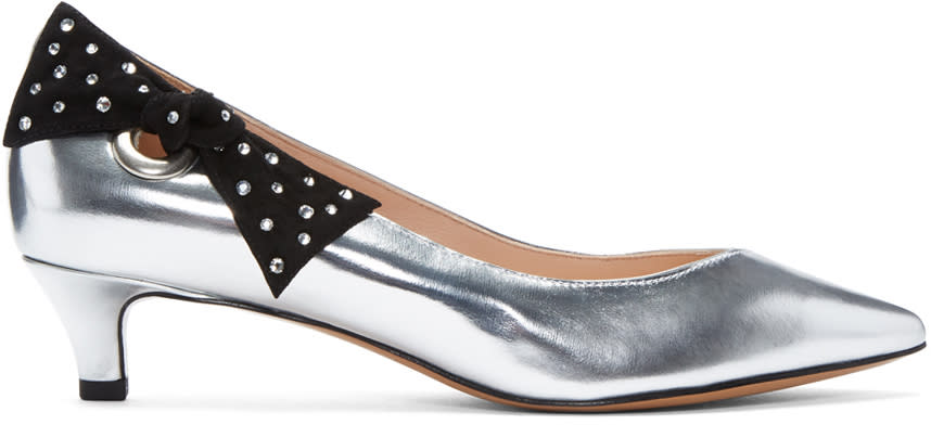 Marc Jacobs Silver Ally Heels