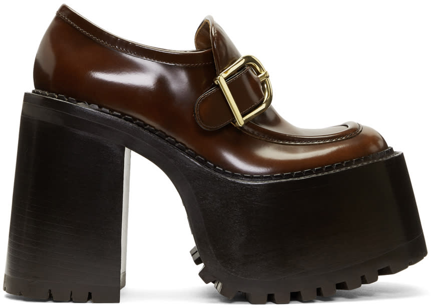 Marc Jacobs Brown Ruth Platform Loafers