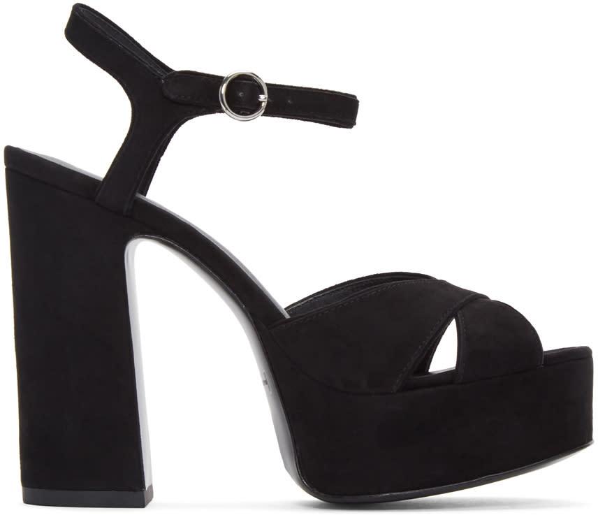 marc jacobs female marc jacobs black suede lust platform sandals
