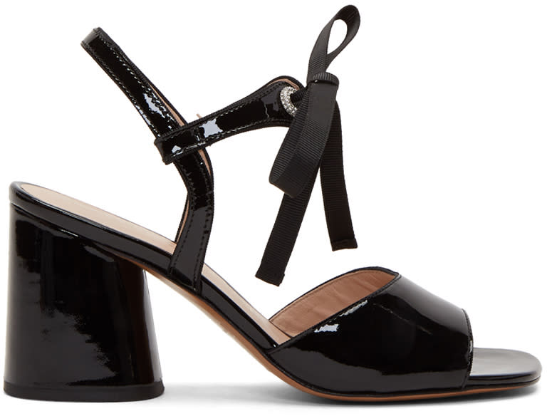 marc jacobs female marc jacobs black patent wilde mary jane sandals