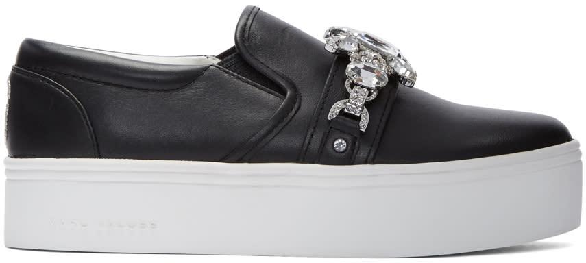 Marc Jacobs Black Embellished Platform Sneakers