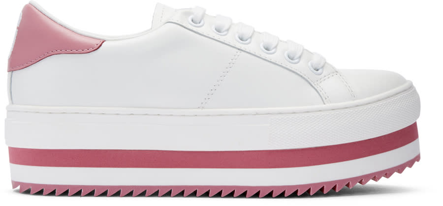 marc jacobs female marc jacobs white grand platform sneakers