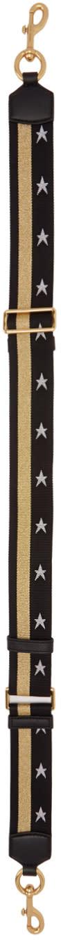 Marc Jacobs Black Stars And Stripes Shoulder Strap