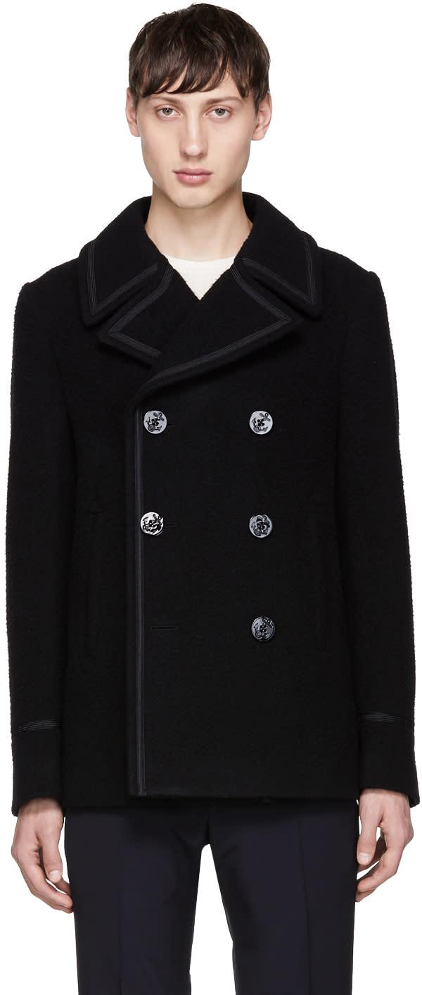 Marc Jacobs Black Wool Peacoat