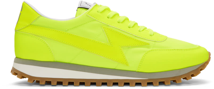 marc jacobs male marc jacobs yellow lightning sneakers