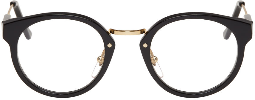 Image of Super Black and Gold Panama Glasses