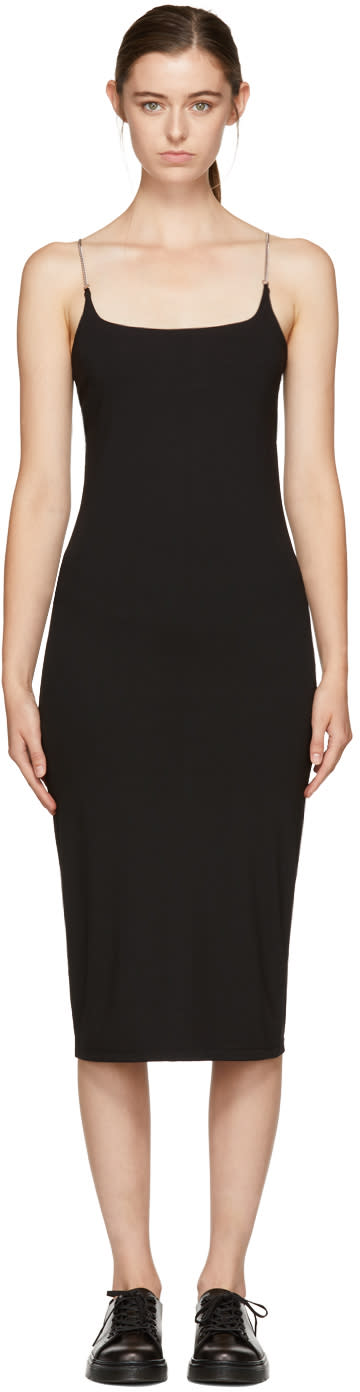 Image of T By Alexander Wang Black Chain Camisole Dress