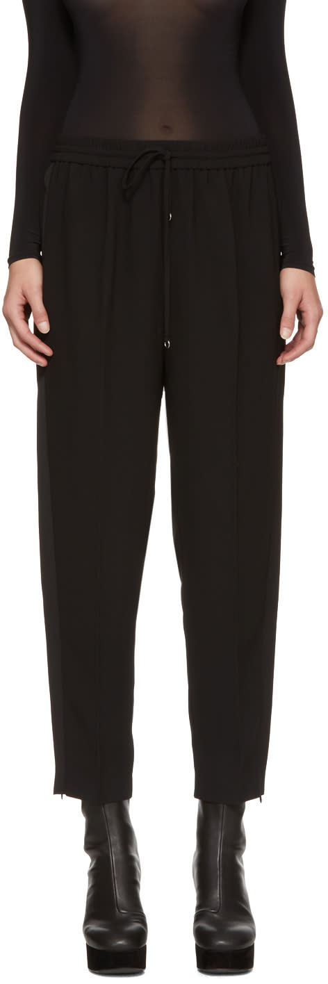 Image of T By Alexander Wang Black Crepe Lounge Pants