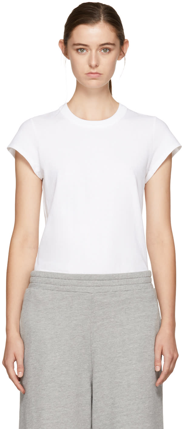 T By Alexander Wang Body Blanc Cap Sleeve Fitted