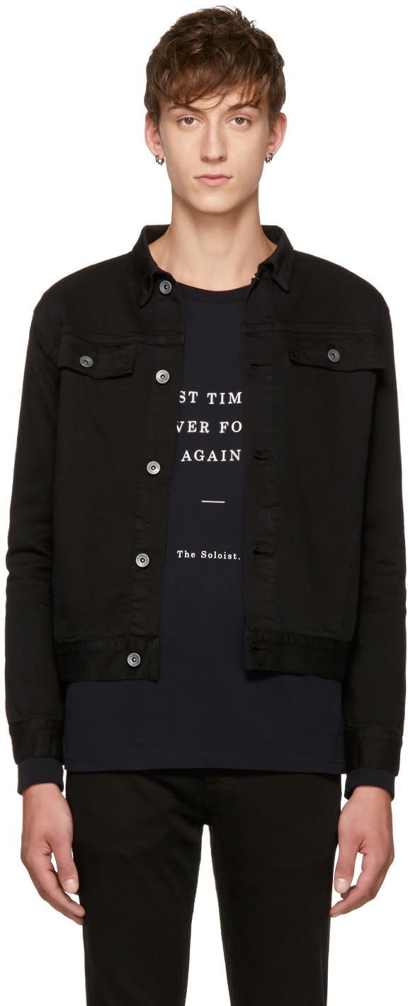 Image of Robert Geller Black Denim Jacket