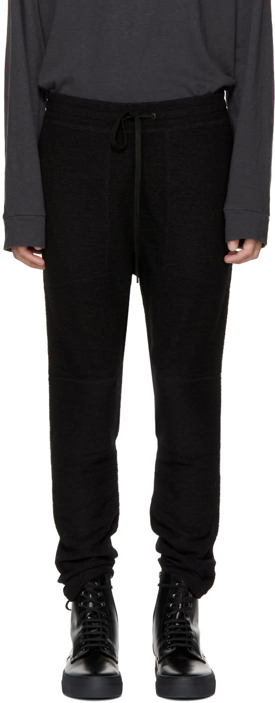 Image of Robert Geller Black Richard Lounge Pants