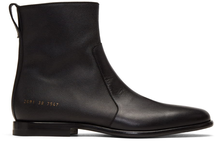 Image of Robert Geller Black Common Projects Edition Chelsea Boots